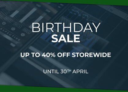 Birthday Sale. Up to 40% off storewide, until 30th April